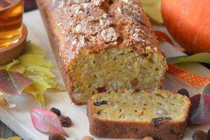 Cake d'automne potimarron, amandes et raisins secs