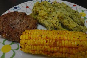 Purée de pommes de terre et brocolis