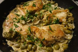 Escalopes aux olives