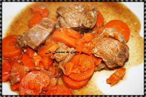 Boeuf confit aux carottes