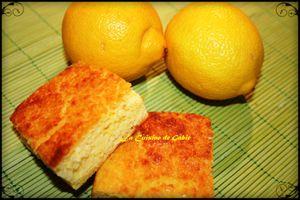 Gateau citronné à la polenta