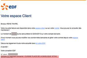 Notre facture EDF à Vézelay, prestigieux, non ?