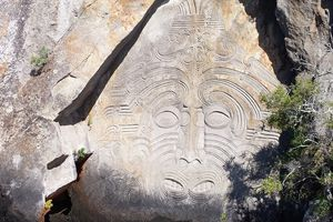 Jour 22 - Lac Taupo - The Maori Rock Carvings