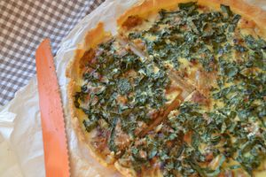 Tarte aux oignons et chou kale