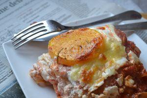 Lasagne de butternut confite et ricotta