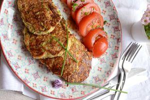 Galettes de flocons d'avoine courgette et fromage #végétarien