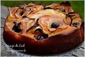 Gâteau moelleux à la Pomme et Roses de Pomme