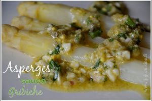 Asperges Blanches sauce Gribiche