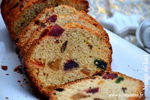 """Cake """"anglais"""" aux Fruits Confits de Pascale Weeks """"le dessert était presque parfait"""""""