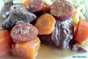 Mijotée de Boeuf à la Bière et au Chorizo