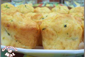 Muffins au chèvre et à la courgette.