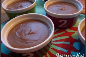 Crèmes dessert chocolat - caramel. Ronde Interblogs # 35