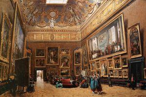 Flânerie dans le Salon Carré du Louvre