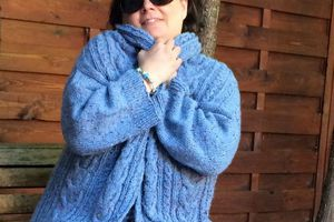 Stranger Cardigan en Super Tweed de Fonty