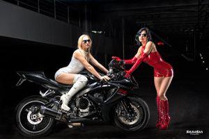 Girls Catanzaro et Moto GSX R