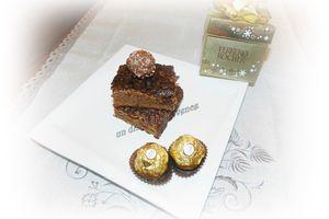 Brownies au Ferrero Rocher