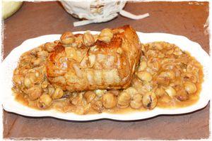 Rôti de porc aux châtaignes & aux cèpes