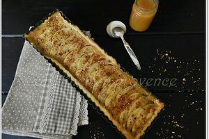 Tarte aux pommes et caramel beurre salé