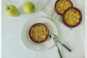 Clafoutis aux pommes, amandes et rhum