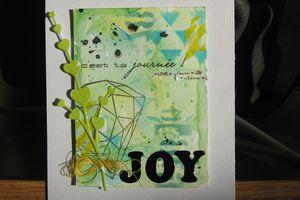 Deux cartes, une belle nouvelle et une page