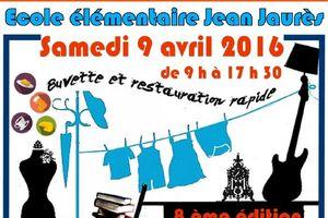 Le 9 avril, vide grenier à l'Ecole Jean-Jaurès