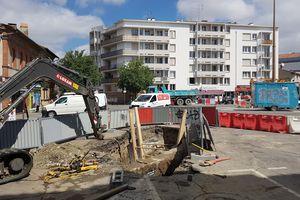 Place du Busca, les travaux des réseaux télécom ont commencé