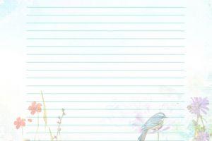 Papier a lettre thème Pâques