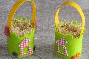 Petits paniers de Pâques... par les enfants