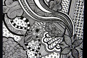 """Mon 1er dessin """"zentangle"""""""