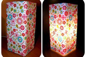 Lampes pour enfants en Decopatch