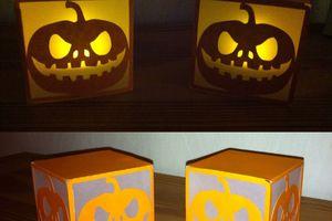 Petites lanternes d'Halloween en papier