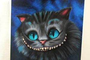 Peinture :  « Le chat du Cheshire » (Tim Burton)