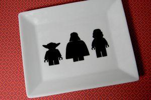 DIY vide-poche Lego Star Wars en porcelaine