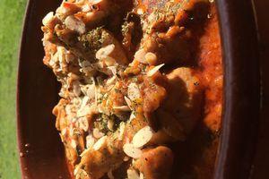 Poulet mijoté aux poivrons rouge (Cook'in)