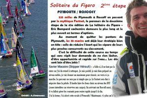 Xavier Macaire au départ de la seconde étape de La Solitaire du Figaro