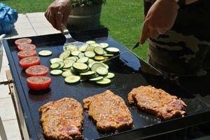 Porc et légumes du soleil à la Plancha