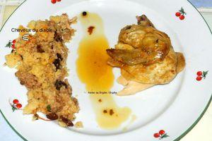 Poulet roti farci au couscous adapté selon la recette du chef Paul Gayler