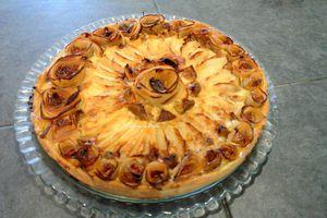 Tarte pommes/figues et miel