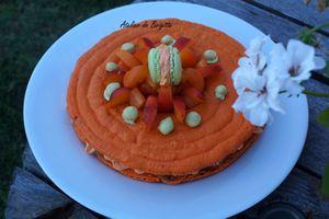 Mac'Abricot ou Macaron géant Abricot et Pistache