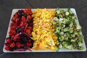 Salade rouge, jaune, verte, comme LE drapeau