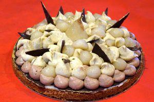 Fantastik Belle Hélène (tarte poire , chocolat, crémeux vanille, sablé breton)