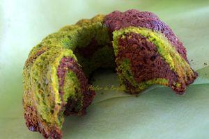 Cake marbré chocolat-pistaches