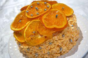 Layer Cake à l'Orange et au Chocolat