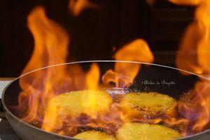 Ananas flambé - Allumer le feu !!!!!