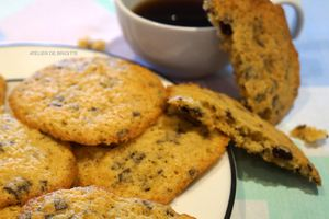 Cookies au chocolat, tendres et fondants