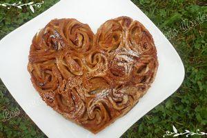 Tarte de roses à la pomme