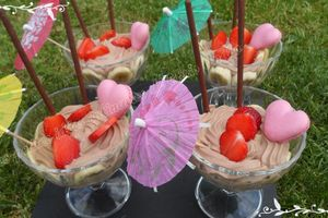 Coupe de fruits fromage blanc/Nutella