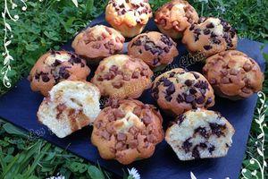Muffins aux pépites de caramel ou pépites de chocolat