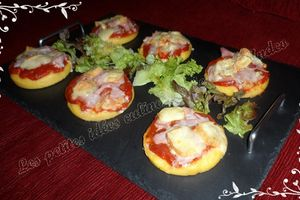 Mini-pizzas de polenta