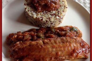 Roussette à la provençale et quinoa